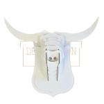 Cabeza de toro de cartón para montar en blanco