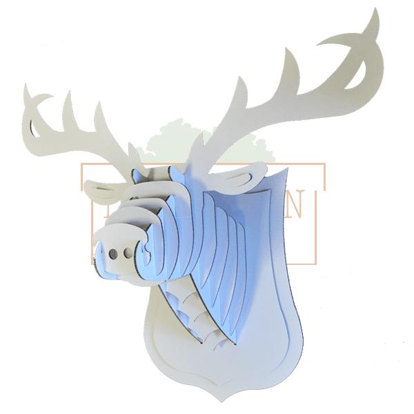 Cabeza de reno de cart n - Cabeza ciervo carton ...
