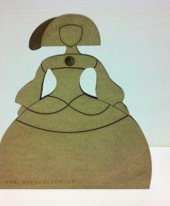 Menina realizada en DM de 41 x 45 cm