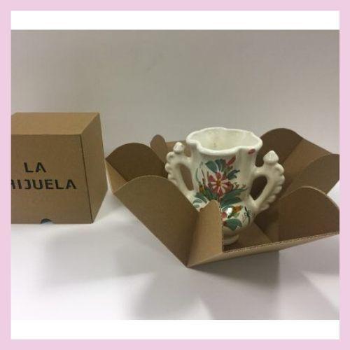 Caja de jarrón