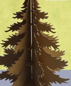 Árbol de Navidad de estantería
