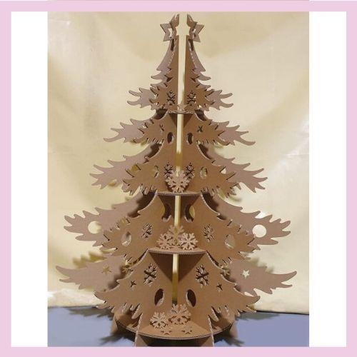 Arbol de Navidad de cartón
