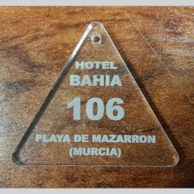Llavero metacrilato hotel