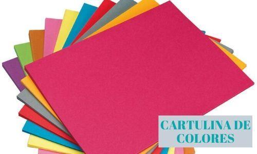 Cartulina de colores