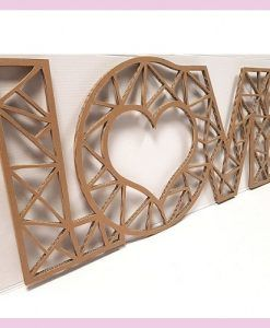 Decoración de pared love