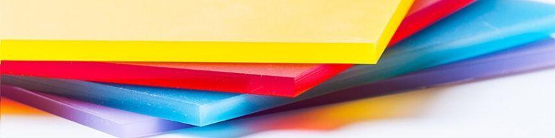Material metacrilato colores