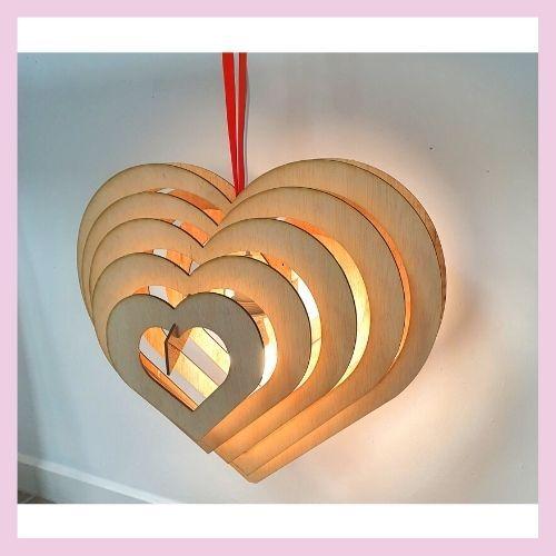 Lámpara de corazón