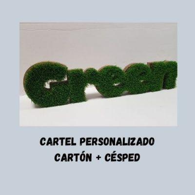 Cartón + césped