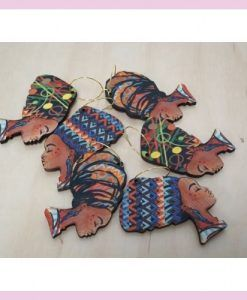 Pendientes cabeza africana
